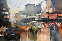 Indian watercolour artist - Nitin Singh