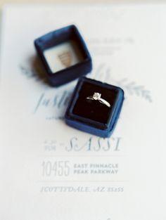 Blue Velvet Ring Box | photography by http://rachel-solomon.com/