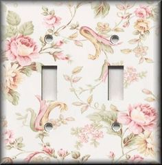 Light Switch Plate Cover - Floral - Victorian Pink Roses - Home Decor - Flowers