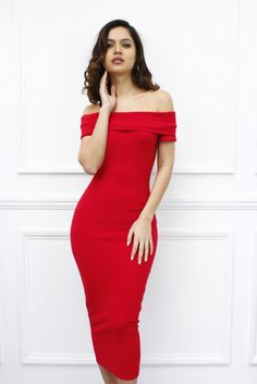 """Farran"" off shoulder Bardot style dress. £14.99 www.glamzam.com"