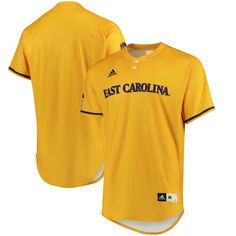 921746b9a East Carolina Pirates adidas Authentic Baseball Jersey - Gold