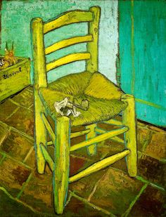 Vincent van Gogh - van Gogh's Chair, 1888 at the National Gallery London England by mbell1975, via Flickr