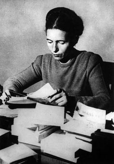 Simone de Beauvoir, author of She Came to Stay and The Mandarins