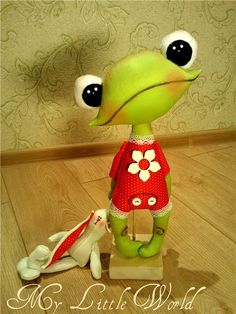 what a whimsical little froggy! love it!