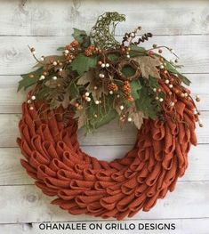 As far as wreaths go, we've had quite a few awesome tutorials on Grillo Designs from some very talented crafters. This burlap pumpkin wreath is no exception! Keep reading for Laura's step by step how to, you are going to love this one! This one was created by Laura from Ohanalee - and its perfect for fall!Materials needed: 1- 14″ straw wreath form, alternatively foam wreath could also be used! 4- rolls of 5.5 inch by 15 ft orange Burlap ribbon (you can buy burlap by the yard but I…
