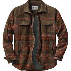Men's Deep Woods Plaid Shirt Jacket at Legendary Whitetails