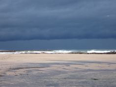 Approaching storm over the farne islands