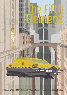 Affiche de film Le Cinquième Element Poster par MinusculeMotion