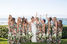 Photographer: Chris J. Evans | Coordinator: Opus Events | Florals: Bliss Maui | Venue: Merriman's, Kapalua, Maui | Bridal Designer: Pronovias | Bridesmaids: Show Me Your Mumu | Hair and Makeup: Meili Autumn Beauty