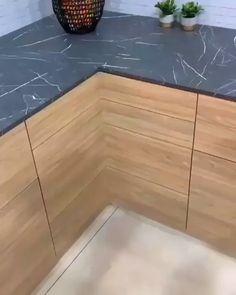 Kitchen Pantry Design, Modern Kitchen Design, Home Decor Kitchen, Interior Design Kitchen, Kitchen Organization, Kitchen Corner, Organization Ideas, Clever Storage Ideas, Kitchen Cabinets Design Layout