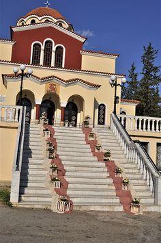 Στολισμός εκκλησίας Mansions, House Styles, Pink, Home Decor, Knight, Luxury Houses, Interior Design, Pink Hair, Home Interior Design