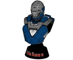 Iron Man Mark 30 (Mark XXX) Blue Steel Bust Free Papercraft Download - http://www.papercraftsquare.com/iron-man-mark-30-mark-xxx-blue-steel-bust-free-papercraft-download.html#BlueSteel, #Bust, #IronMan, #Mark30, #MarkXXX
