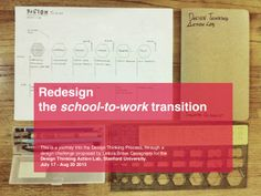 Design thinking: Redesign the school-to-work transition