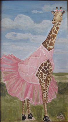 Giraffe Dancer Painting by GetaReneeToday on Etsy, $20.00