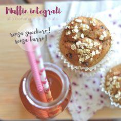 breakfast at lizzy's: Muffin integrali con banana e cioccolato