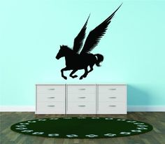 Winged Horse Silhouette Pegasus Greek Mythology Vinyl Wall Decal Vinyl Peel And Stick Sticker Wall Decal Picture Art Graphic Design Image Decor 20x25 >>> Continue to the product at the image link.