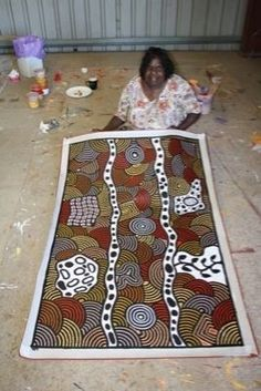 Australian Aboriginal Art - works in a wide range of media including painting on leaves, wood carving, rock carving, sculpture, ceremonial clothing and sandpainting. The True Australians their art is inspiring to all. Aboriginal Painting, Aboriginal Artists, Aboriginal People, Dot Painting, Arte Tribal, Aboriginal Culture, Painted Leaves, Indigenous Art, Australian Artists