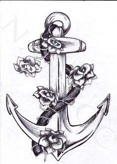possibilities for my next tattoo. gotta change the flowers a tiny bit but LOVE this anchor