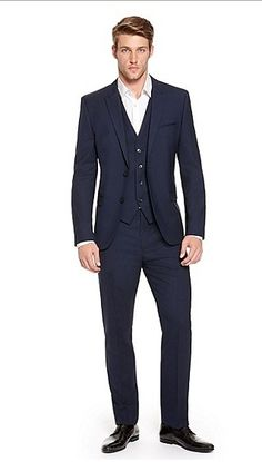 Hugo Boss Aldur/Weyll/Hux WE' | Slim Fit, Stretch Virgin Wool 3-Piece Suit