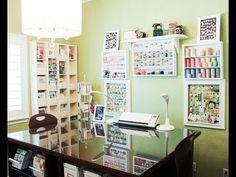Patterned Paper Organization -- Craft Room Organization