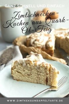 World's best cinnamon roll cake / rose cake - simple re .- Weltbester Zimtschnecken-Kuchen / Rosenkuchen – einfaches Rezept Super quick, easy and very tasty: cinnamon bun cake made from quark oil dough cinnamon and fluffy according to my recipe - Easy Cake Recipes, Baking Recipes, Cookie Recipes, Dessert Recipes, Recipes Dinner, Cinnamon Bun Cake, Cinnamon Rolls, Cinnamon Recipe, Food Cakes