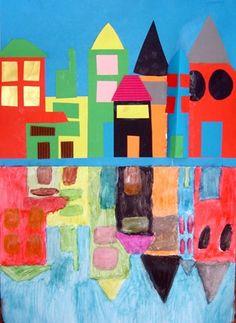 Spiegelbild Häuser...