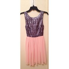 Homecoming dress ❗️❗️ One day sale❗️❗️ Pinkish salmon bottom, and a purple grey sequin top. Worn once Dresses