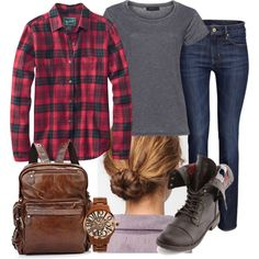"""Gone Camping-Comfy Casual Grey T"" by heather-rolin on Polyvore"