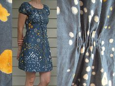 Seriously in love with this example of Built By Wendy 3835 peasant dress in Nani Iro fabric, no less!