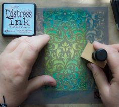 16 Distress-Ink-Techniques-Thicketworks-for-The-Graphics-Fairy-Stencil-Second-Color