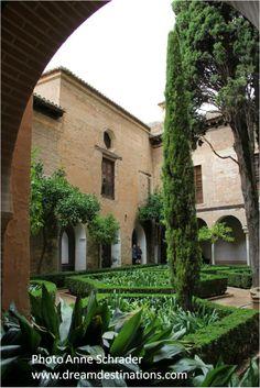 Courtyard area Nazaries Palace Alhambra Grenada Spain