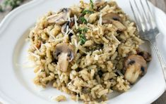 You are going to love this easy and delicious Mushroom Risotto Recipe and it packs a flavor punch and will become your new favorite to make. Aga Recipes, Veggie Recipes, Cooking Recipes, Healthy Recipes, Delicious Recipes, Tuna Noodle Casserole Recipe, Casserole Recipes, Creamy Pasta Dishes, Mushroom Risotto