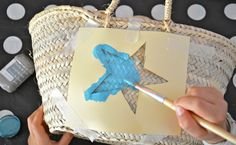 5 Tutoriales para Personalizar Tus Capazos | Ideas Decoradores Craft Work For Kids, Art For Kids, Crafts For Kids, Arts And Crafts, Diy Home Crafts, Cute Crafts, Kids Art Space, Small Projects Ideas, Diy Straw