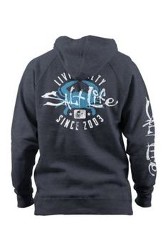Salt Life Salty Crab Hoodie Boys 8-20 - Midnight Heather Black - Xl
