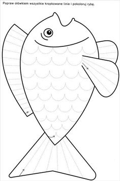 Tracing or cutting Preschool Writing, Free Preschool, Preschool Learning, Kindergarten Worksheets, Worksheets For Kids, Learning Activities, Preschool Activities, Rainbow Fish, Kids Education