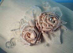 HANDMADE BRIDAL VINTAGE LACE FABRIC CRYSTAL CUFF | Seren Rose Bridal & Bespoke Jewellery MISI Handmade Shop