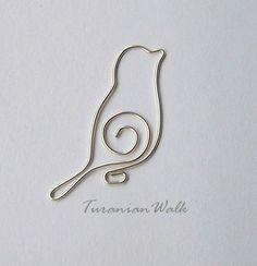 Bird - wire bookmark