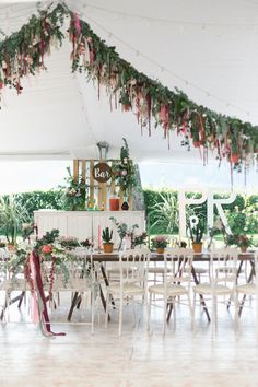 Proteas and ribbons filled this colorful boho wedding from the bouquet to the reception. Enjoy every magical moment of this Lake Como destination wedding. Bohemian Wedding Reception, Romantic Wedding Receptions, Wedding Reception Decorations, Romantic Weddings, Reception Party, Rustic Weddings, Outdoor Weddings, Lake Como Wedding, Destination Wedding