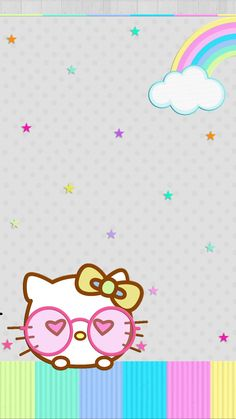 Easter Wallpaper, Pink Wallpaper, Colorful Wallpaper, Melody Hello Kitty, Hello Kitty Gifts, Hello Kitty Backgrounds, Hello Kitty Wallpaper, Wallpaper Fofos, School Frame