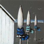 artiste peintre,peinture déco à l'acrylique sur du tissu de lin ou de coton de couleurs
