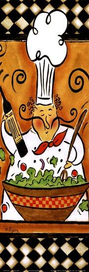 Whimsical Chef III (salad) by Rebecca Lyon