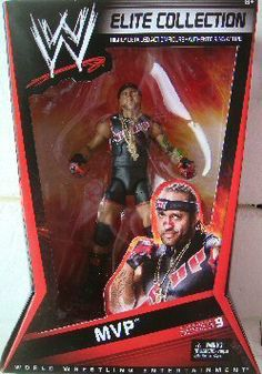 """WWE Elite Collector MVP Figure Series #9 by Mattel. $37.95. Kids can recreate their favorite WWE matches. Bring home the officially licensed WWE action. Perfect for WWE fans and collectors of all ages. Elite Collection Series #9 features authentically sculpted 6"""" figure. Features deluxe articulation, amazing detail and authentic accessories. From the Manufacturer                World Wrestling Entertainment Elite Collection Series #9: Capturing all the action ..."""