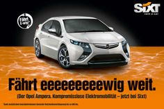 Werbewelt- Autovermietung Sixt