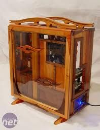 Little House on the Prairie Rig! Nice! #Wooden #computercase