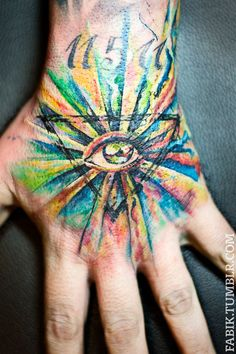 All Seeing Eye Hand Tattoo by Fabik Liedmeier in Düsseldorf, Germany