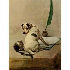 Power of the Dog 1910 Fox Terrier Canvas Art - Maud Earl (18 x 24)
