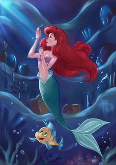 The Art of Mello Dee | The Little Mermaid | La Sirenita | Ariel | Flounder @Dgiiirls