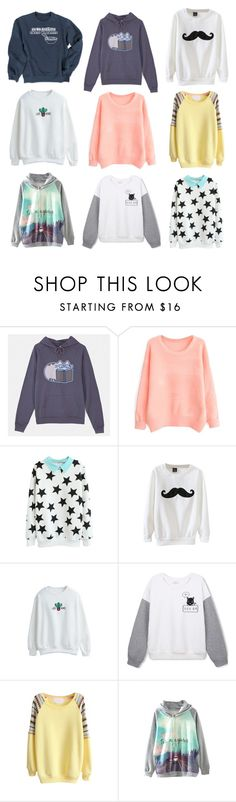 """""""OVERSIZED SWEATERS XIII"""" by pokeygirlllll on Polyvore featuring Pusheen and WithChic"""