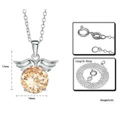 ELEGANT FASHION NECKLACE JEWELRY MAKING ANGEL PENDANT WING $8.36  $7.11 1 Review(s)   Add Your Review IN STOCK This item is Fashion Elegant Crystal Necklace Angel Wing Pendant. According to your own personal preferences, you can match it with beautiful clothes in different seasons. The following occasions, anniversary, engagement, party, wedding, etc. are propitious to wear it.