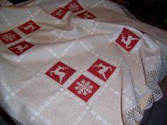 Decke Nordische Weihnacht-X-stich-Rico